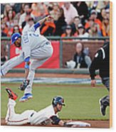 Gregor Blanco and Alcides Escobar Wood Print