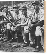 Hank Greenberg and Goose Goslin Wood Print