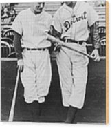 Hank Greenberg and Lou Gehrig Wood Print