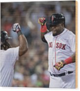 Hanley Ramirez and David Ortiz Wood Print