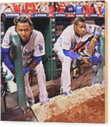 Hanley Ramirez and Yasiel Puig Wood Print