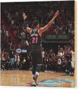 Hassan Whiteside Wood Print