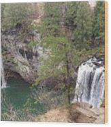 High Angle View Of Fall Creek Falls Wood Print