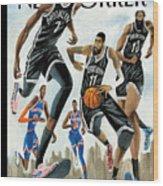 Hoop Dreams in New York Wood Print