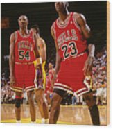 Horace Grant and Michael Jordan Wood Print