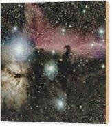 Horsehead and flame nebulae Wood Print