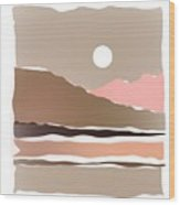Hot Desert Scene Wood Print