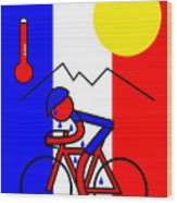 Hot in France Wood Print