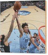Houston Rockets v Memphis Grizzlies Wood Print