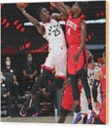 Houston Rockets v Toronto Raptors Wood Print