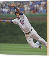 Hunter Pence and Addison Russell Wood Print