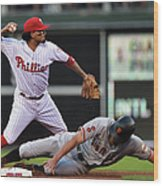 Hunter Pence and Freddy Galvis Wood Print