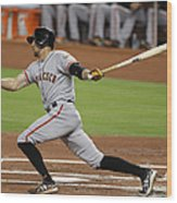 Hunter Pence Wood Print