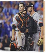 Hunter Strickland and Buster Posey Wood Print