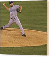Huston Street Wood Print