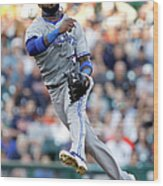 Ian Kinsler and Jose Reyes Wood Print