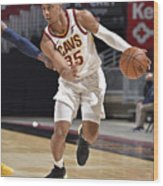 Indiana Pacers v Cleveland Cavaliers Wood Print