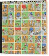 Inside Baseball Wood Print