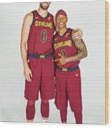 Isaiah Thomas and Kevin Love Wood Print