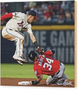 Jace Peterson and Bryce Harper Wood Print