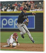 Jace Peterson and Chris Owings Wood Print
