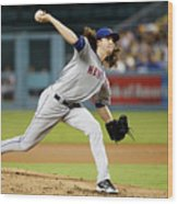 Jacob Degrom Wood Print