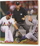 James Mccann and Jhonny Peralta Wood Print