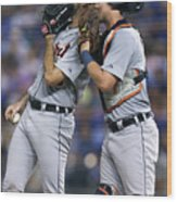 James Mccann and Justin Verlander Wood Print