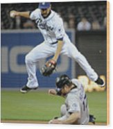 Jason Bartlett and Todd Helton Wood Print