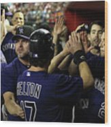 Jason Giambi, Todd Helton, and Troy Tulowitzki Wood Print