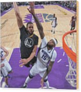 Javale Mcgee and Demarcus Cousins Wood Print