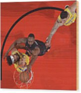 Javale Mcgee, James Harden, and Lonzo Ball Wood Print