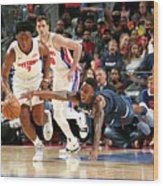Jeff Teague and Stanley Johnson Wood Print