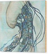 Jellyfish Two Wood Print