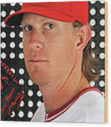 Jered Weaver Wood Print