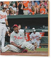 Jerome Williams and Ryan Flaherty Wood Print