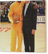 Jerry West and Kobe Bryant Wood Print