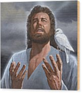 Jesus Loves Me Wood Print