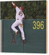 Jesus Montero and Mike Trout Wood Print