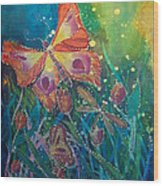 Jeweled Butterfly Fantasy Wood Print
