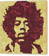 Jimi Hendrix Print, Jimi Hendrix Poster, Rock Music Lovers Gift Wood Print