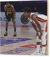 Jimmy Butler and Lebron James Wood Print