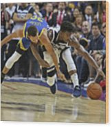 Jimmy Butler and Stephen Curry Wood Print