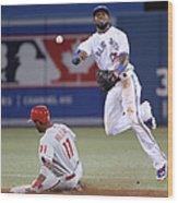 Jimmy Rollins and Jose Reyes Wood Print