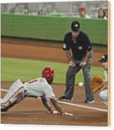 Jimmy Rollins and Nick Green Wood Print
