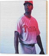 Jimmy Rollins Wood Print
