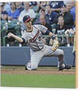 Joe Mauer and Lyle Overbay Wood Print