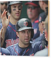 Joe Mauer, Trevor Plouffe, and Brian Dozier Wood Print