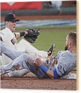 Joe Panik and Alex Gordon Wood Print