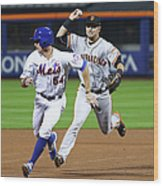 Joe Panik and Brandon Crawford Wood Print